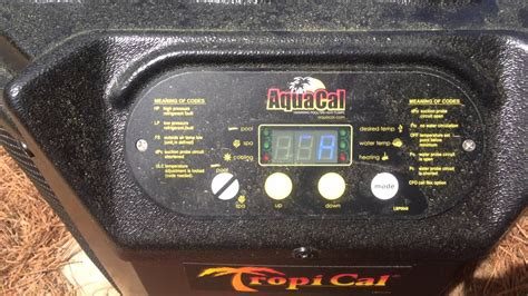 how to operate a aquacal heat youtube