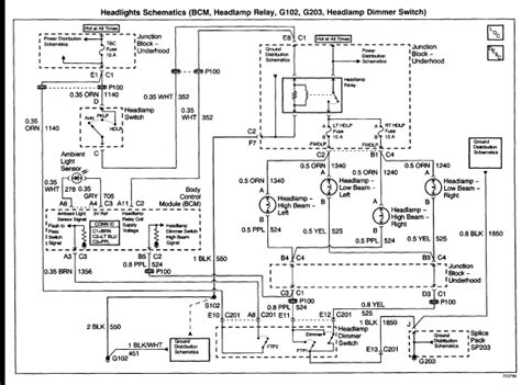 Chevy Tahoe Light Wiring Diagram by I A 2001 Tahoe 5 3 L And The Headlights Will Not