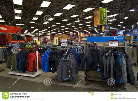 Outdoor Sport Clothing Store Editorial Stock Image