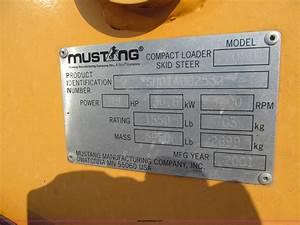 2001 Mustang 2050 Skid Steer