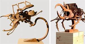 Hybrid kinetic insects carved from wood by dedy shofianto for Hybrid kinetic insects carved from wood by dedy shofianto