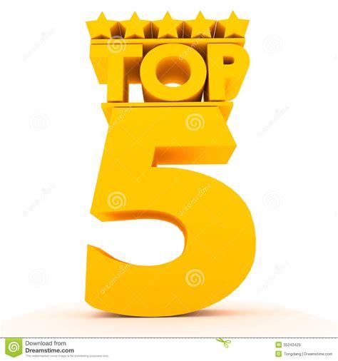 Top5. Royalty-vrije Stock Afbeeldingen - Beeld: 35243429
