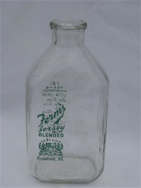 ferns rockford jersey dairy advertising vintage glass