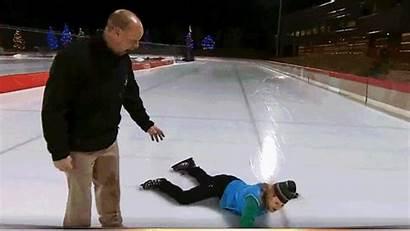 Ice Getting Fall Skating Kid Guy Doesn