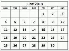 Június 2018 Naptár Magyar ünnepek Excel Nyomtatható