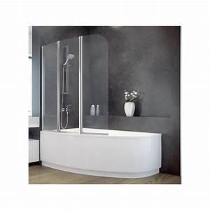 Pare Baignoire D Angle : baignoire asym trique lordy 170 cm avec pare baignoire ~ Melissatoandfro.com Idées de Décoration