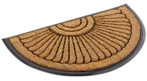 Half Circle Doormat by Coco Fiber Half In Laid Doormat 24 X 39
