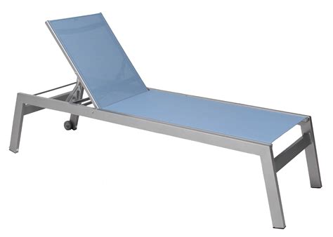 suncoast vectra rise sling aluminum chaise lounge armless with wheels e421