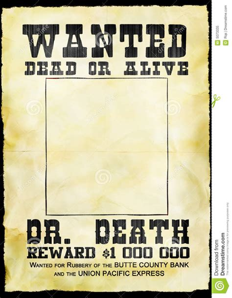 Wanted poster stock illustration. Illustration of pattern ...