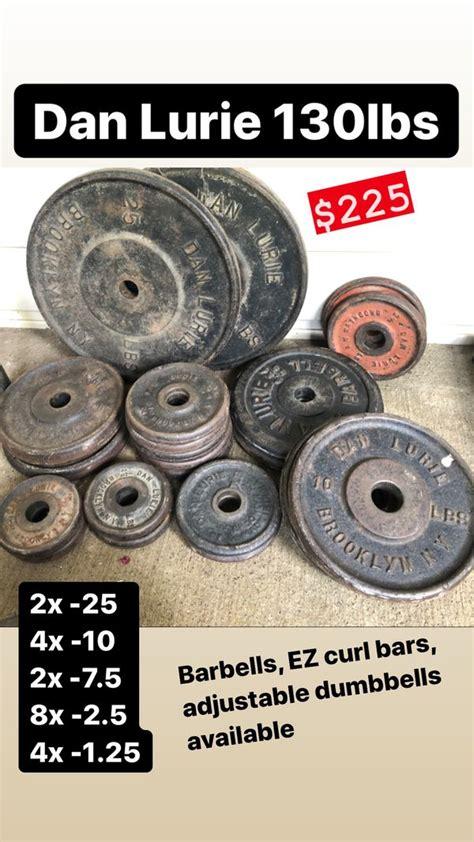 standard weights  lurie set  weights barbells curl bars adjustable dumbbells