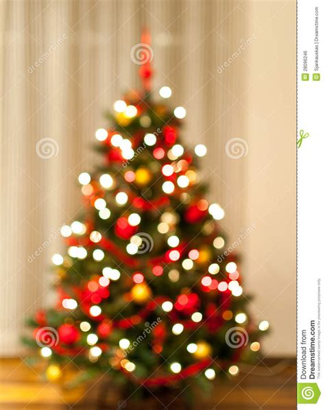christmas tree lights blurred stock photo image 28096246