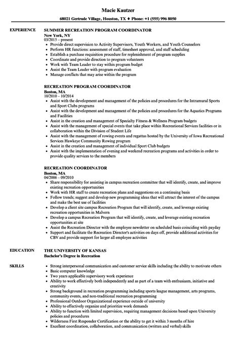 sle resume for youth worker