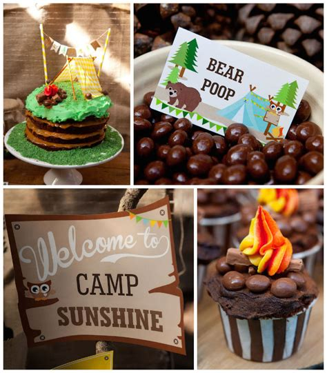 karas party ideas camping themed birthday party