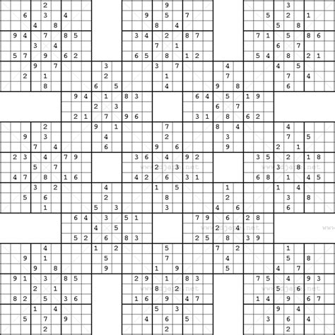 These sudoku puzzles are more suited for advanced players. Printable Sudoku Samurai! Give These Puzzles A Try, And You'll Be - Sudoku 16X16 Printable Free ...