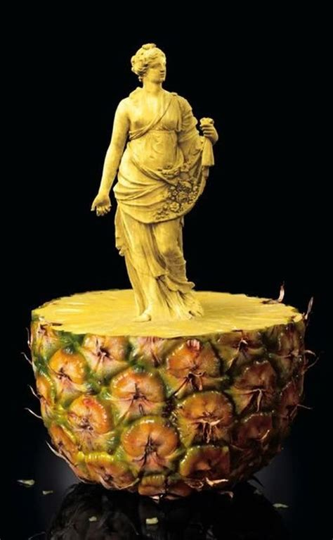 fruit sculpting food art