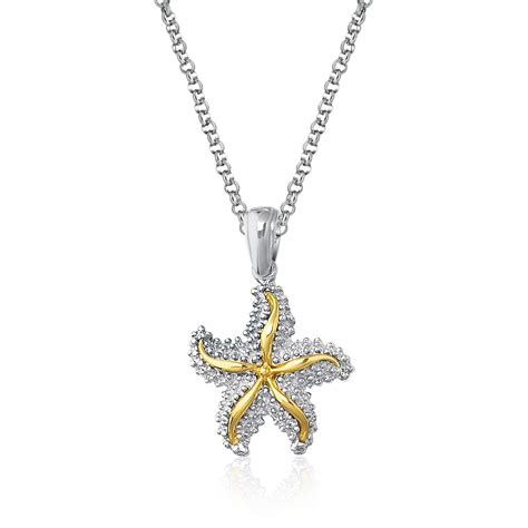 Starfish Pendant In Sterling Silver And 14k Yellow Gold. Silver Indian Bracelet. Gold Anklets Online. Popular Wedding Rings. Wiki Engagement Rings. Woman Black Watches. 5 Diamond Band Ring. Silver Rings. Cute Wedding Rings