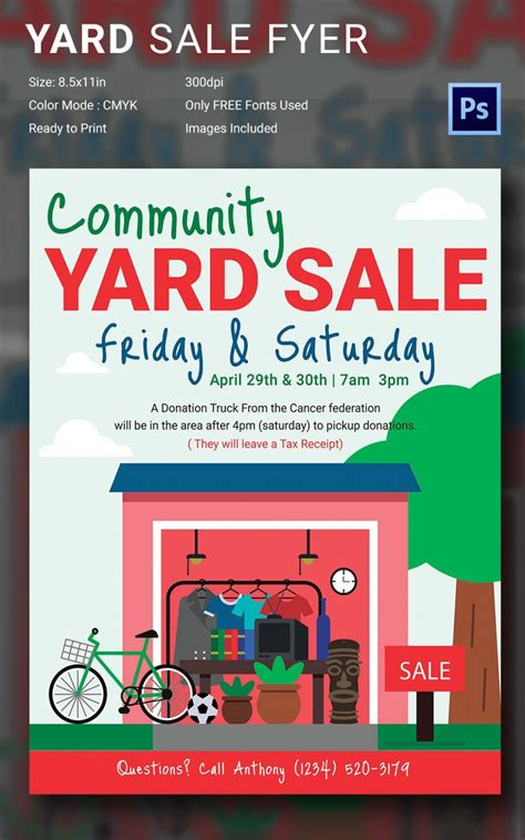 Yard Sale Flyer Template Ten Important Facts That You ...
