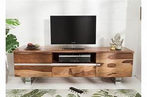 Meuble Tv Design Bois : meuble tv design 160 cm bois massif pour meuble tv ~ Melissatoandfro.com Idées de Décoration