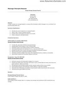 Spa Therapist Resume Templates by Sle Therapist Resume Free Resumes Tips