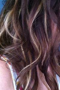 Dark Brown Hair With Caramel Peekaboo Highlights ...