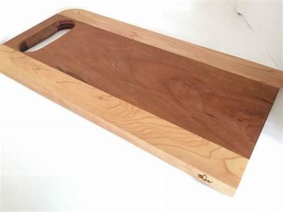 Cutting Wood Board Cherry Maple Handcrafted Stand