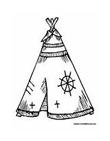 Coloring Teepee Native Pages American Indian Printable Colouring Symbols Teepees Designs Colormegood Tipi Template Patterns Wood Burning Adult Embroidery Pattern sketch template