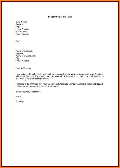 regine letter format  english  resignation letter