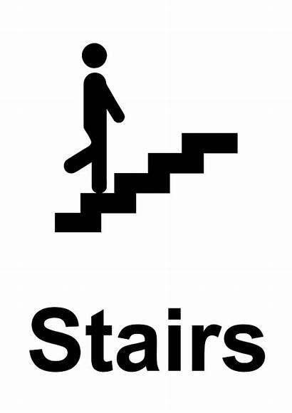 Stairs Sign Dda Printable Signage Signs Access