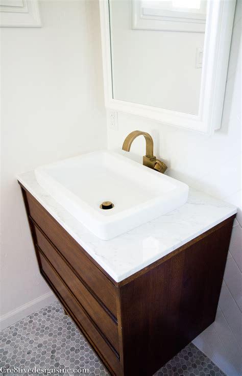 mid century modern sink vanity designing a tiny bathroom cre8tive designs inc