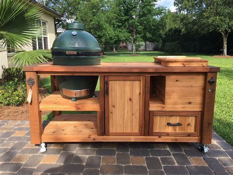 Custom Grill Table or Grill Cart for Big Green Egg Kamado