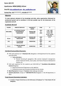 freshers cv format With cv format for freshers