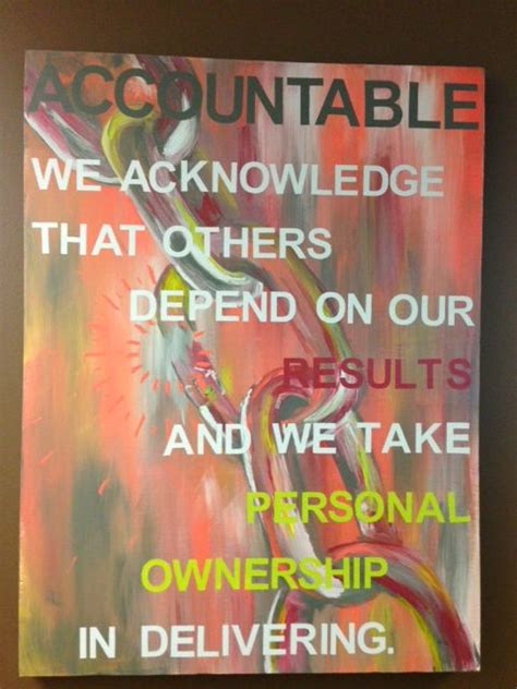 core values accountable   wall