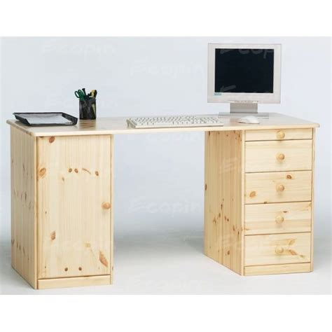 bureau en pin bureau ministre en pin massif vernis