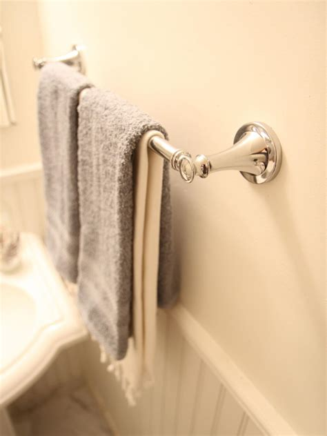 install  bathroom towel bar  tos diy