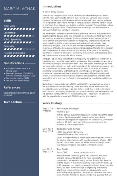 restaurant manager resume sles visualcv resume