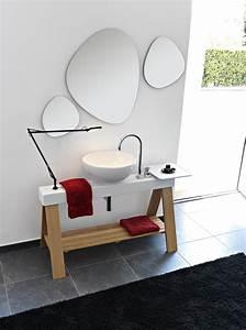 Meuble vasque original for Salle de bain design avec meuble vasque original