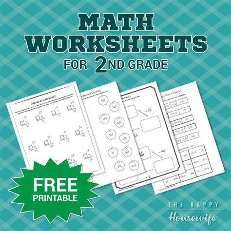 math worksheets   grade  printables  happy