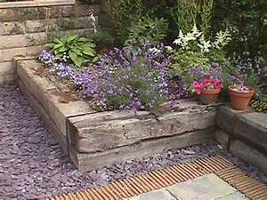 Railway sleeper raised bed