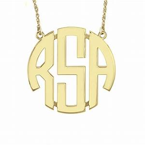 classic block monogram necklace be monogrammed With block monogram