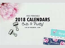 Calendar 2018 Printable 12 Free Monthly Designs to Love!