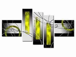 Tableau 5 Parties : tableau abstrait peint la main en 5 parties tableau peinture pinterest tableau abstrait ~ Teatrodelosmanantiales.com Idées de Décoration