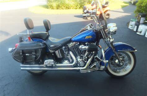 Harley Davidson Blue 2007 Flstc Heritage Softail Classic