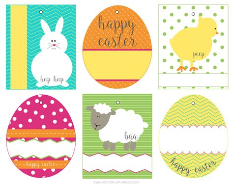 Easter Name Tags Template by Free Easter Basket Gift Tags Capturing With Kristen Duke