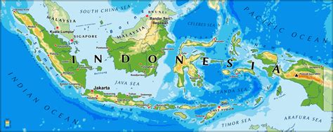 indonesia map guide   world