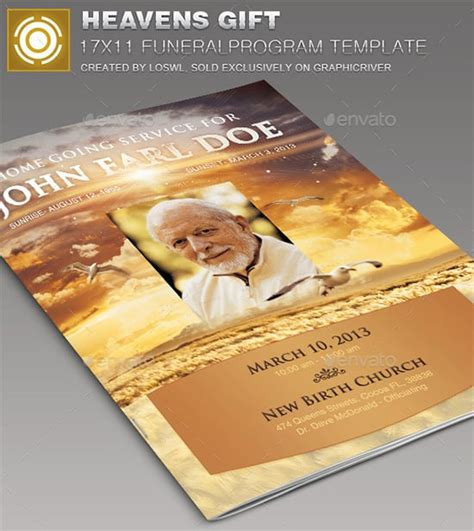 funeral program templates excel  formats