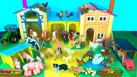 Toy Farm Animals for Kids - Learn Fun Facts about Baby ...
