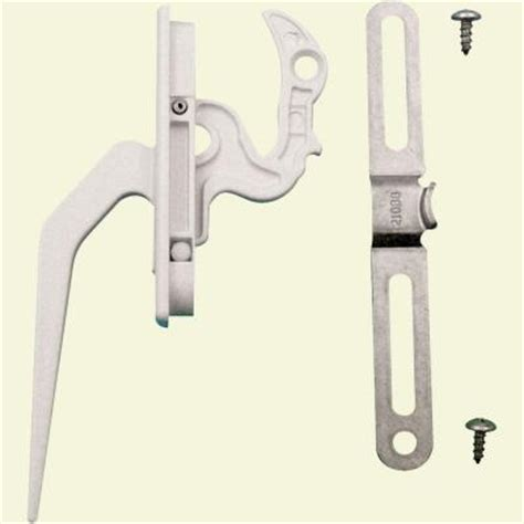 prime  casement locking handle  keeper white    home depot