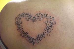 I Love My Family Tattoo On Back
