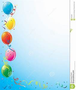 Party Balloons And Confetti Border Royalty Free Stock ...