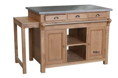 ilot cuisine bois table cuisine en bois table de cuisine table plateau